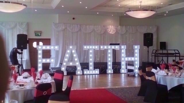 Light Up FAITHl Letters