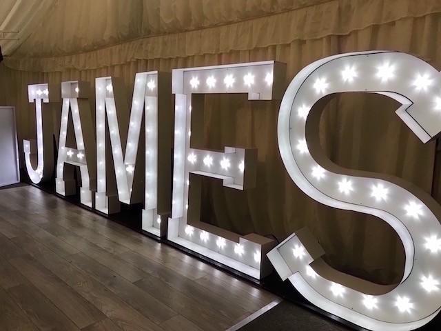 Light Up JAMES Letters