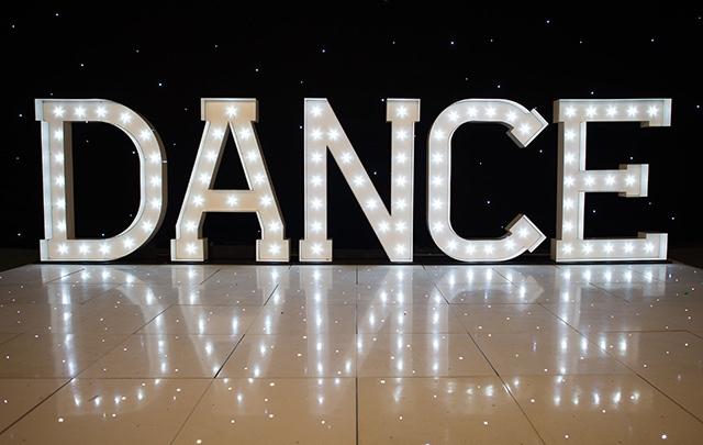 Light Up DANCE Letters