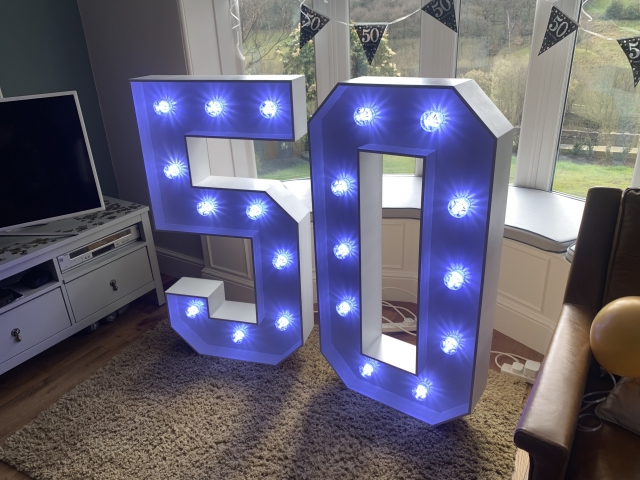 Light Up 50 Numbers
