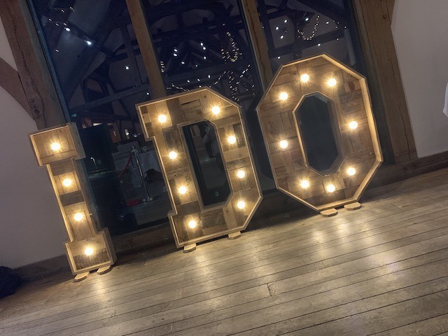 Rustic Light Up I DO Letters