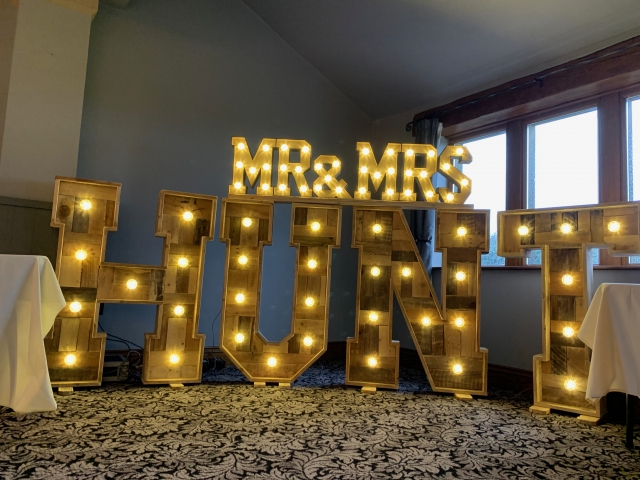 Rustic Light Up Surname Letters