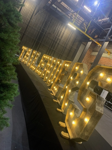 Rustic Light Up TAILENDERS Letters