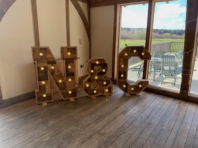 Rustic Light Up Initial Letters