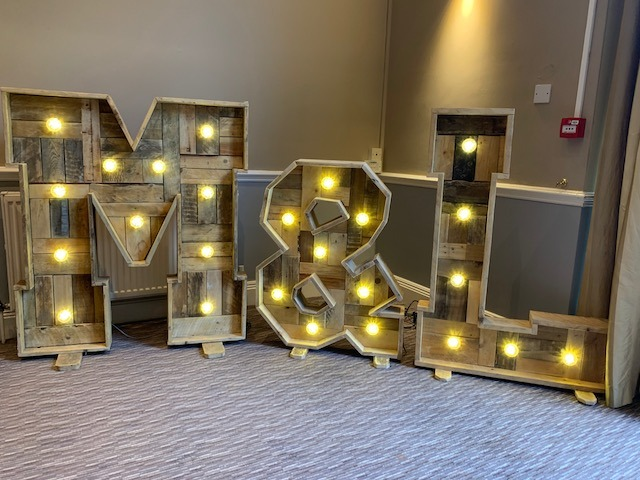 Rustic Light Up Initials Letters