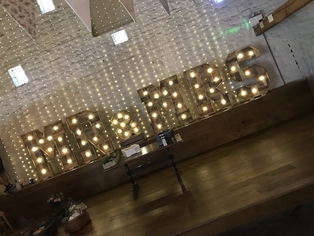 Rustic Mr & Mrs Letters